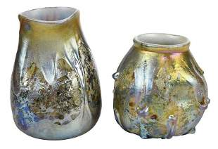Two Tiffany Attributed Cypriote Lava Vases