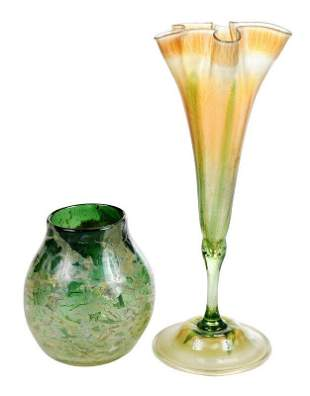 Two Tiffany Favrile Art Glass Vases
