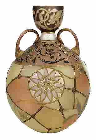 Mt. Washington Royal Flemish Glass Vase