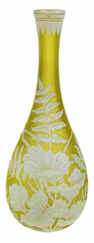 Thomas Webb & Sons Attributed Cameo Art Glass Vase