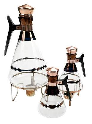 Mid Century Three Piece Pyrex Coffee Set