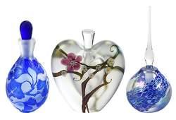 Three Signed Contemporary Perfume Bottles