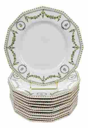 Set of 11 Nymphenburg Porcelain Dinner Plates