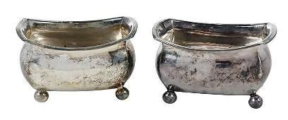 Pair George III English Silver Salts