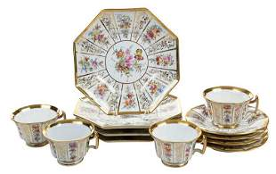 Meissen Porcelain Dessert Service For Four