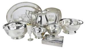 17 Silver Plate Hollowware Trophies