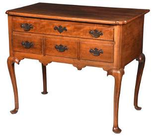 New England Queen Anne Cherry High Chest Base
