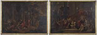 Two Italian Architectural Capriccio Paintings