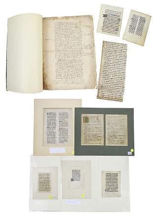 Nine Illuminated Manuscript Leaves and Fragment