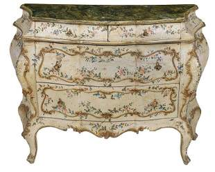 Venetian Baroque Style Bombé Commode