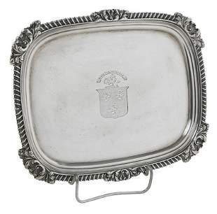 George III English Silver Rectangular Tray