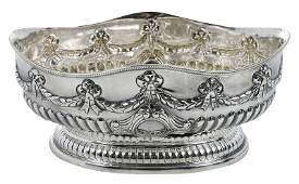 Victorian English Silver Footed Centerbowl