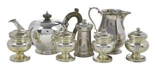 Seven English Silver Table Items