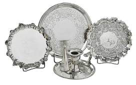 Four English and Italian Silver Table Items