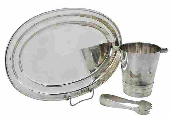 Three Vietnamese Silver Table Items