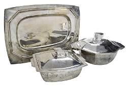 Three Vietnamese Art Deco Style Table Items