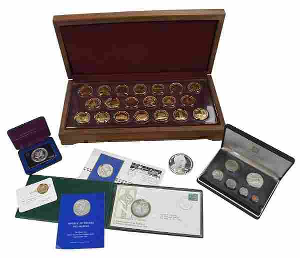 Assorted Franklin Mint Silver Medallions