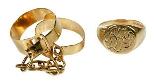 Two Retro Gold Rings