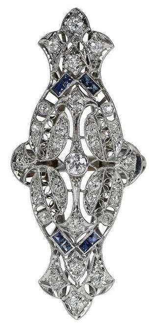 Platinum topped 14kt. Diamond Ring