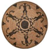 Apache Coiled Basket Tray with Figures