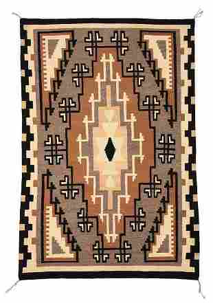 Large Two Grey Hills Navajo Weaving