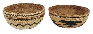 Two Northern California Yukok/Karok Baskets