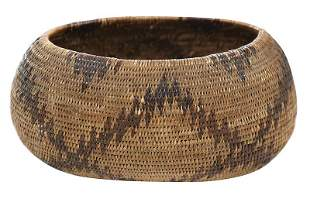 Small Pomo Coiled Basket