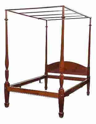 American Federal Style Figured Mahogany Bedstead