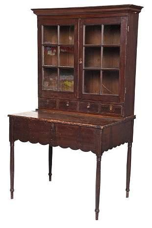 Fine Late Federal Plantation Desk, Original Surface