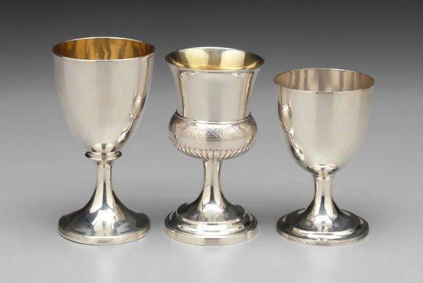 2: Three George III silver goblets: