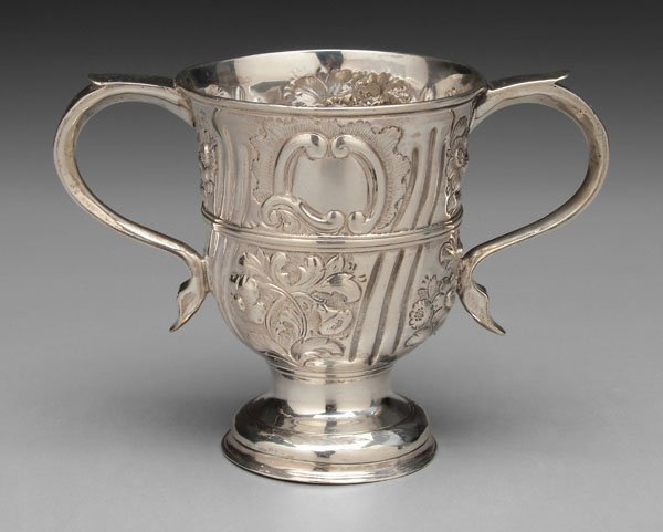 17: George II silver two-handled cup,