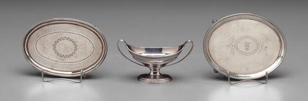18: Three pieces English silver,