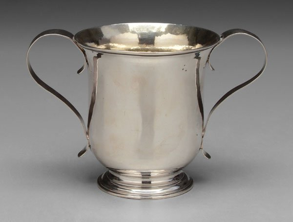24: George III silver caudle cup,