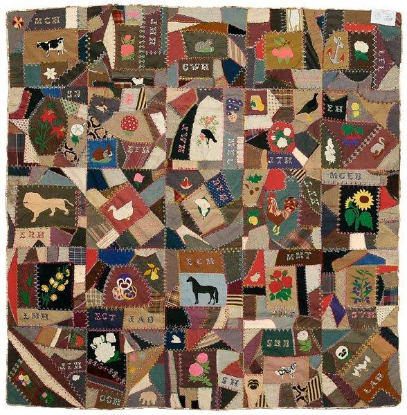 64: Virginia folk art quilt,