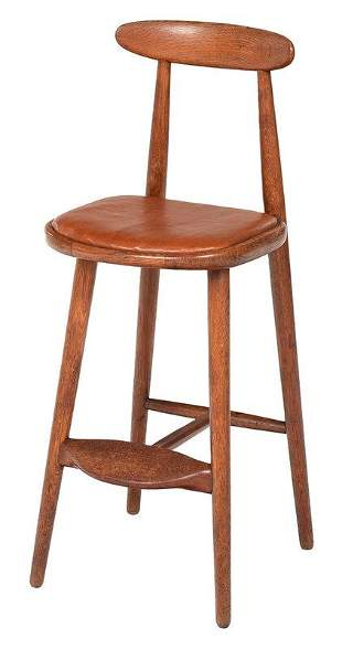 Vilhelm Wohlert Danish Modern Bar Stool