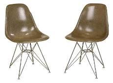 Pair Vintage Herman Miller Eames Side Chairs