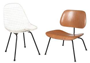 Two Mid Century Modern Herman Miller Side Chairs