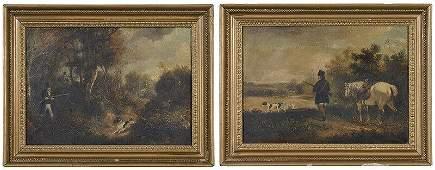 Pair of British School Sporting Paintings