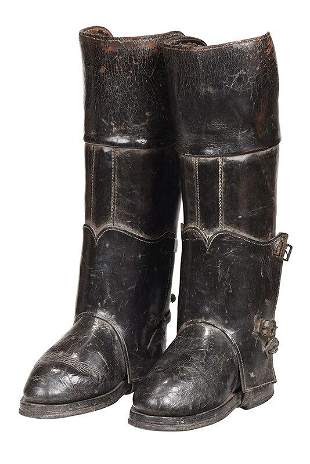 Pair of Oversize Leather Riding Boots