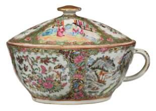 Chinese Rose Medallion Porcelain Chamber Pot
