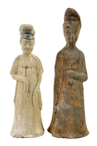 Two Chinese Pottery Tomb Figures