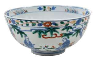 Chinese Wucai Decorated Porcelain Bowl