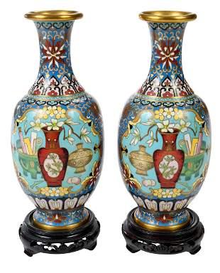 Pair of Cloisonn' Vases