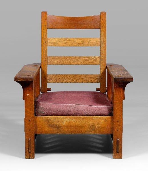 7: Gustav Stickley Morris chair,