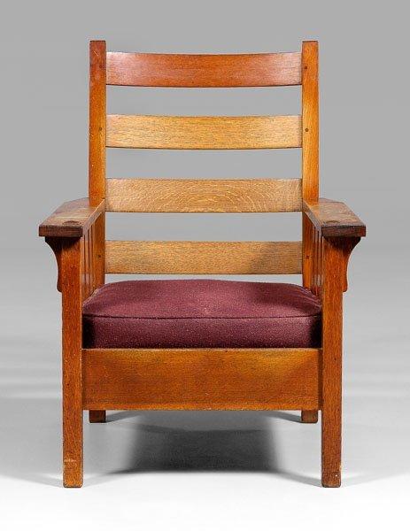 9: Gustav Stickley armchair,