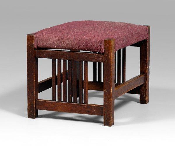 11: Gustav Stickley footstool,