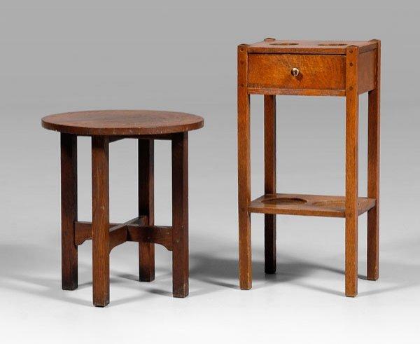 12: Stickley Arts and Crafts oak tabouret,