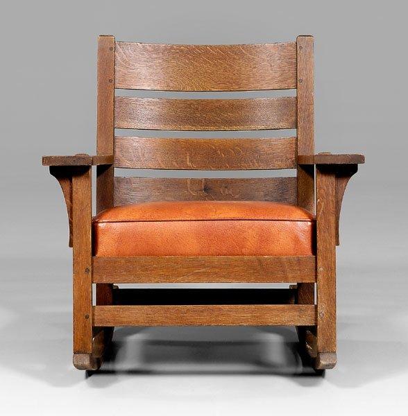 13: L&JG Stickley rocking chair,