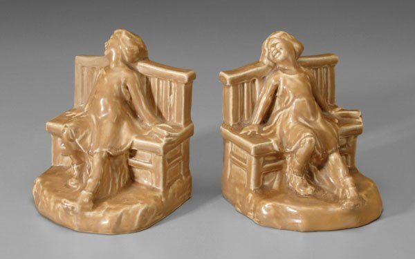 15: Pair Rookwood bookends: