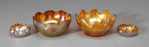 18: Four Tiffany favrile bowls: